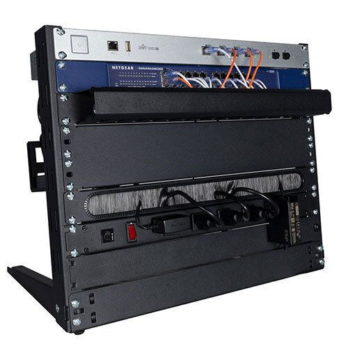 Desktop Rack with Equipment Installed