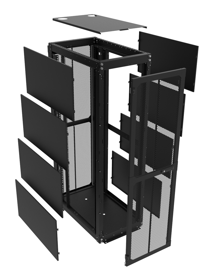 Features The Racksolutions 151dc Data Center Enclosed Server Racks