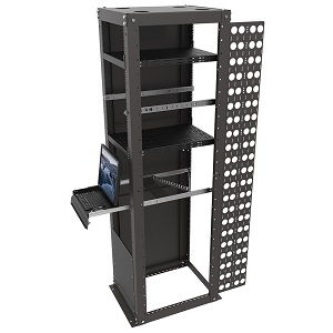 Server rack with accessories